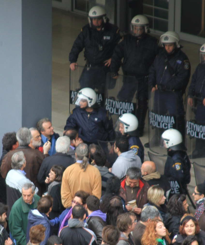Protests agains new austerity measures in Thessaloniki, Greece