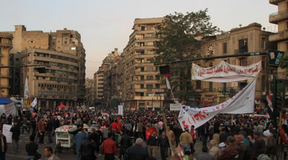 Heartfelt demonstrations on Tahrir (Photo: RWH)