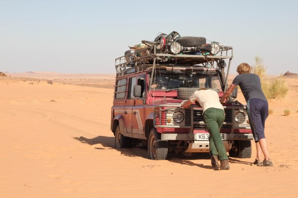 Thankfully the soft sand only causes a brief hitch in the desert! (Photo: RWH)